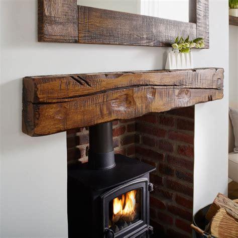 wood beam shelves oak mantel shelf reclaimed distressed rustic solid beam