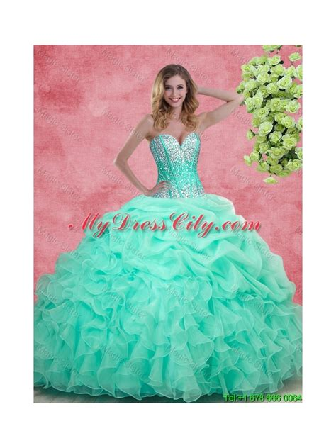 quinceanera themes for summer 2015 elegant summer apple green quinceanera dresses with