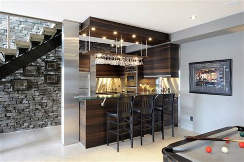 modern bar ideas for basements lake front basement bar contemporary basement ottawa