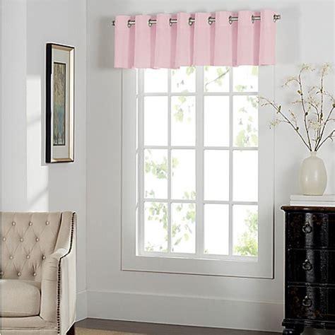 Light Pink Window Curtains Buy Newport Grommet Window Curtain Valance In Light Pink From Bed Bath Beyond