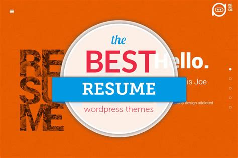 Theme Cv by 55 Best Resume Themes 2018