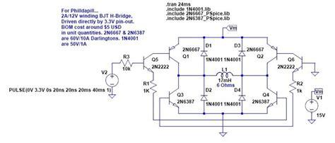 bjt transistor h bridge stepper motor driver problem parallax forums
