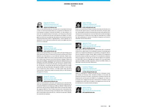 Mba Esade Pdf by Informe Econ 211 Mico De Esade Julio 2014