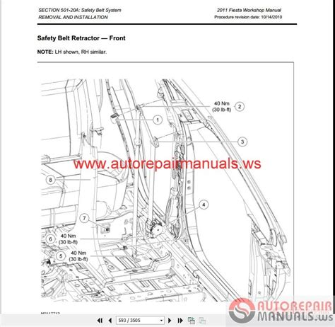 ford fiesta 2011 workshop manual wiring diagrams auto repair manual forum heavy equipment