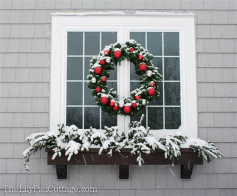 youtube how to decorate a christmas window box outdoor decor adventures in chainsaws and trees the lilypad cottage
