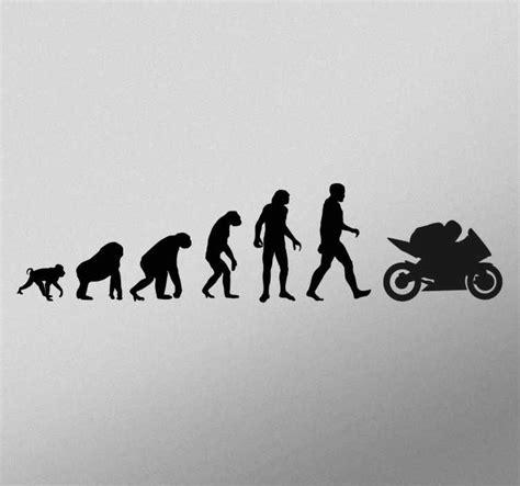 adesivo evoluzione motociclista tenstickers