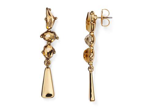 metallic drop earring lyst robert morris drop earrings in metallic
