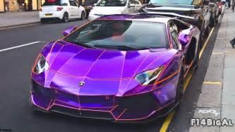 Lamborghini Purple Chrome Chrome Purple Lamborghini Aventador Loud Sounds