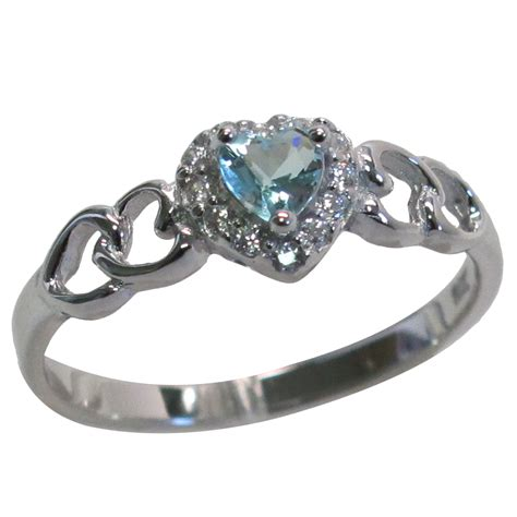Lovely Ring lovely aquamarine 925 sterling silver ring size 5 10