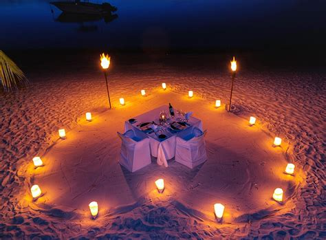 Exclusive romantic starlight dinners on the beach at Trou aux Biches Beachcomber Resorts