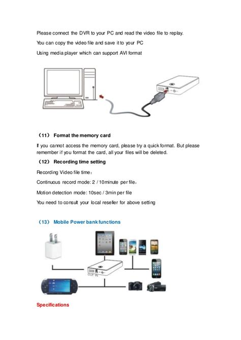 power bank bedienungsanleitung power bank dvr sp 007 s user manual