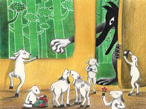 los siete cabritillos y 847864279x tamara ilustraciones el lobo y los siete cabritos