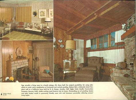 pine room 101 design ideas to decorate knotty pine 24 page catalog from 1960 retro renovation