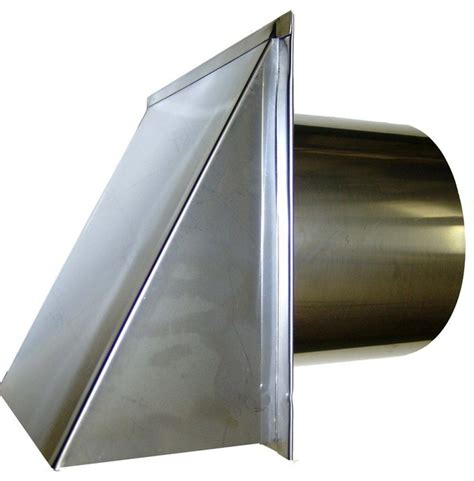 Kitchen Exhaust Screen Stainless Steel Exterior Side Wall Cap 4 Inch With