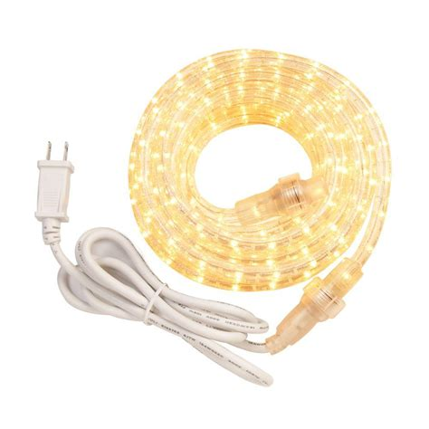 westek 12 ft incandescent white rope light kit rw12bcc