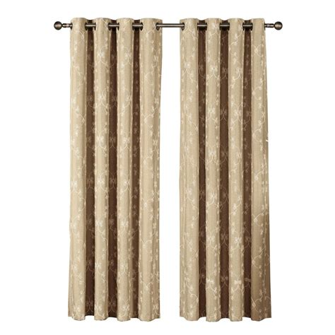 96 grommet curtain panels window elements geo gate embroidered faux linen extra wide