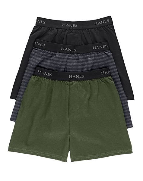 hanes knit boxers hanes classic boys knit boxers 3 pack