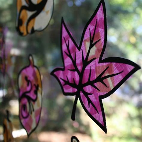 Stained Glass Tissue Paper Craft - 61 best fall arts and crafts ideas images on