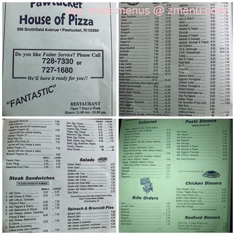 house of pizza pawtucket ri online menu of pawtucket house of pizza restaurant