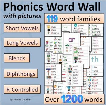 spelling pattern word wall phonics word wall short vowels long vowels blends