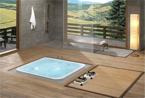 In Bathtub by 15 Beautiful Bathrooms Featuring Sunken Bathtubs