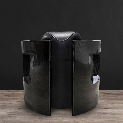 real leather armchair black carbon armchair with black genuine leather for sale