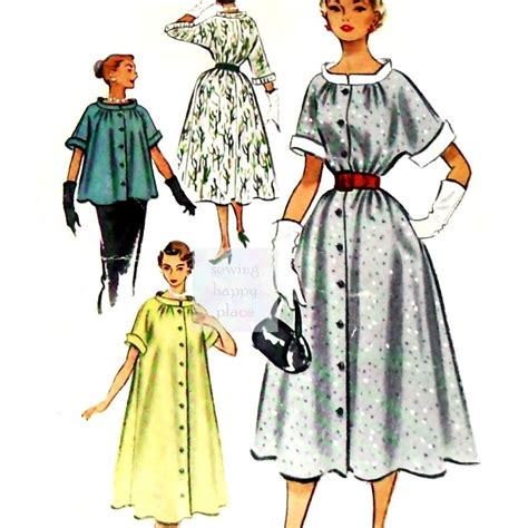 1950s swing dress pattern swing duster dress or jacket 1950s pattern maternity or
