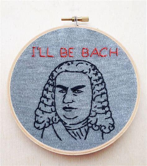 embroidery funny johann sebastian bach classical composer