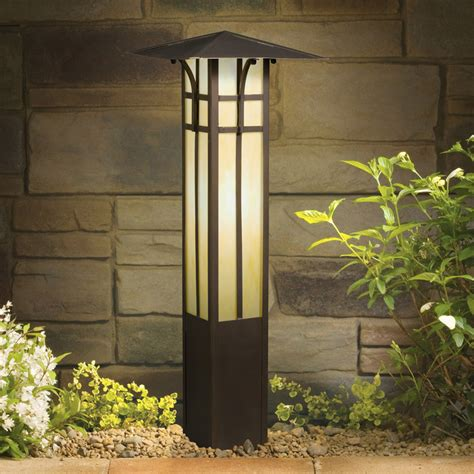 landscape bollard lights kichler 15458oz 12v landscape mission bollard light
