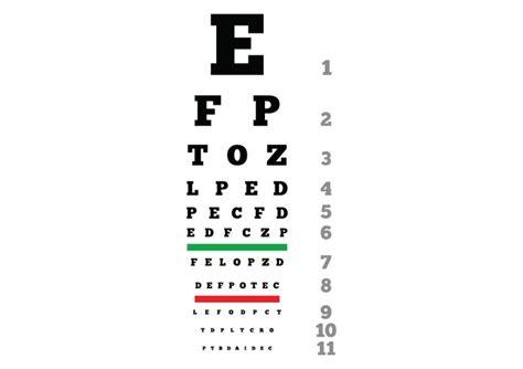eye chart download free snellen chart for eye test eye eye chart download free vector image