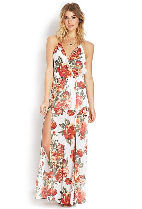 Flower Maxy floral dresses floral dress forever 21