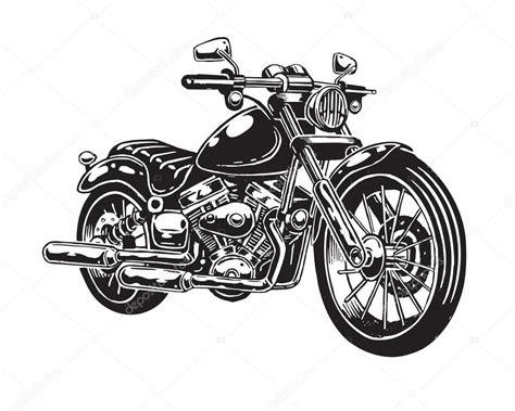 Motorrad Bilder Gezeichnet by Vektor Illustration Gezeichnete Motorrad