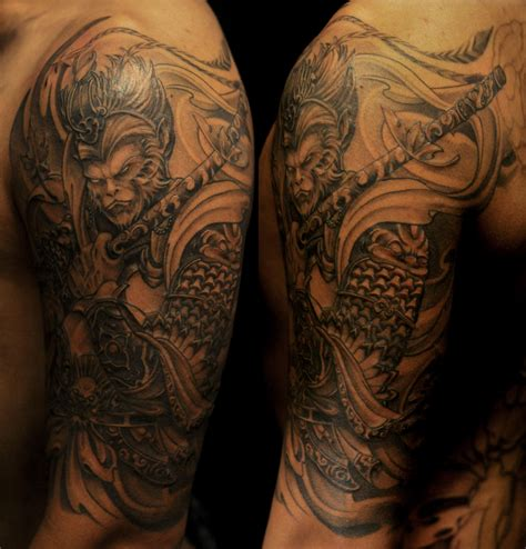 chronic ink tattoo half sleeve monkey king chronic ink monkey king