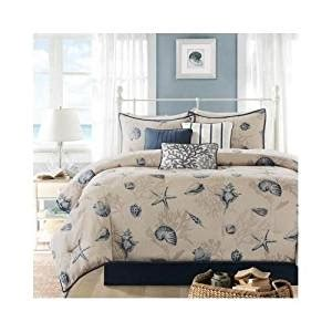 blue and beige comforter set com modern seashell blue beige cotton comforter 7