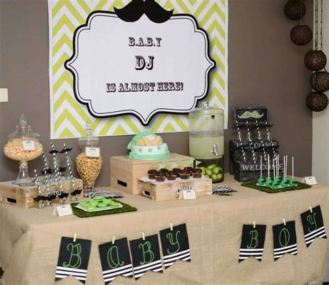 mustache themed baby shower decorations mustache baby shower ideas photo 1 of 9 catch my