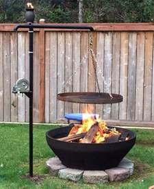 Movie Pit Sofa Fire Pit With Cooking Grill Diy Projects For Everyone