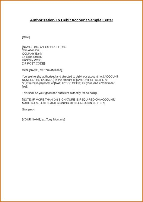 authorization letter writing format 9 authorization letters authorizationletters org