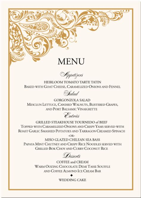 Indian Wedding Menu Card Ideas paisley buddhist hindu wedding menu cards indian menu card