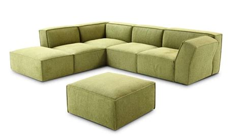 776 modern green fabric sectional sofa
