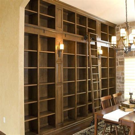 libreria usata built in bookshelves with library ladder diy home decor