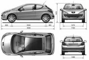 Peugeot Dimensions The Blueprints Blueprints Gt Cars Gt Peugeot Gt Peugeot 207