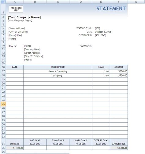invoice statement template invoice statement template parables co