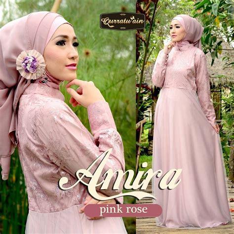 Baju Muslim Amira Pink amira pink baju muslim gamis modern