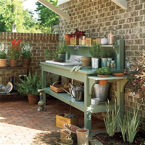 Garden Potting Bench Ideas Diy Garden Potting Work Bench Plans Interior Design Ideas