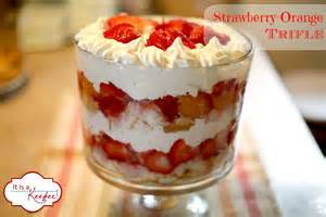 Jeanne s strawberry orange trifle