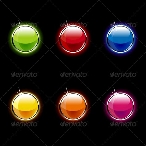 Push Button On Bulat set of glass buttons by vecster graphicriver