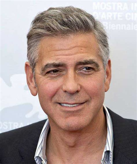 haircuts for men over 50 with straight hair 15 best george clooney short hair mens hairstyles 2018