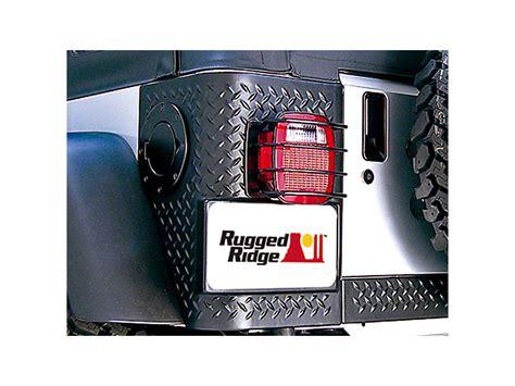rugged ridge light guards rugged ridge wrangler rear light guards black 11226 01 87 06 wrangler yj tj