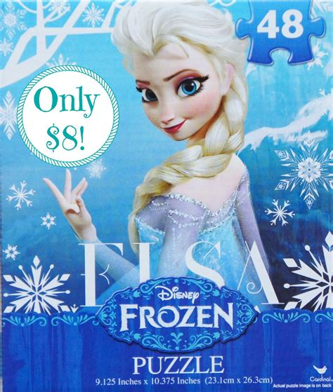 frozen in hot hot disney frozen quot elsa quot 48 piece jigsaw puzzle only 8