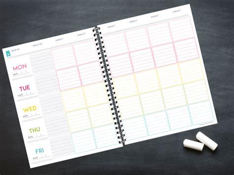 printable teacher planner 2015 lesson planner template the deluxe homeschool planner